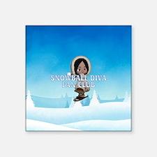 """Snowball Diva Square Sticker 3"""" x 3"""""""