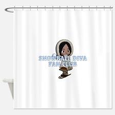 Snowball Diva Shower Curtain