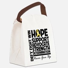 Hope Gold Awareness Ribbon Canvas Lunch Bag