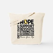 Hope Gold Awareness Ribbon Tote Bag