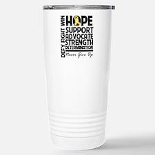 Hope Gold Awareness Ribbon Travel Mug
