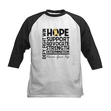 Hope Gold Awareness Ribbon Baseball Jersey