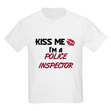 Kiss Me I'm a POLICE INSPECTOR T-Shirt