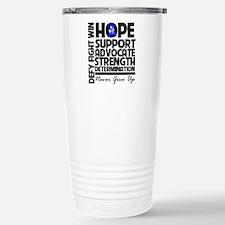 Hope Blue Awareness Ribbon Travel Mug