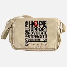 Hope Red Ribbon Messenger Bag