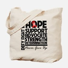Hope Red Ribbon Tote Bag