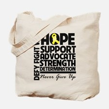 Hope Yellow Ribbon Tote Bag