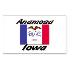 Anamosa Iowa Rectangle Decal