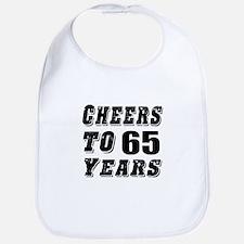 Cheers To 65 Bib