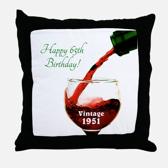 Vintage 1951 65 Throw Pillow