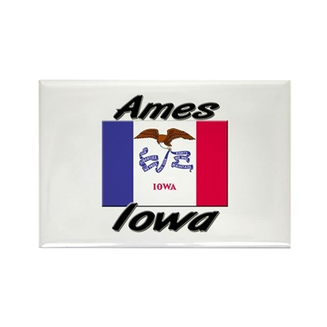 Ames Iowa Rectangle Magnet