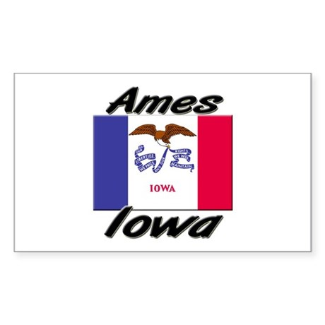 Ames Iowa Rectangle Sticker