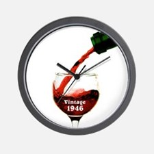 Vintage 1946 Wine 70th Wall Clock