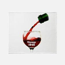 Vintage 1946 Wine 70th Throw Blanket