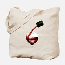 Vintage 1946 Wine 70th Tote Bag
