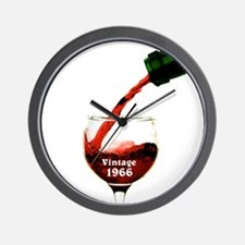 Vintage 1966 Wine 50th Wall Clock