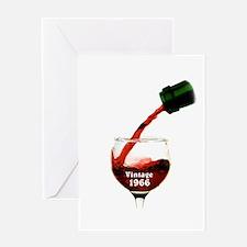 Vintage 1966 Wine 50th Greeting Cards