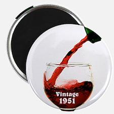 Vintage 1951 Wine 65th Magnets