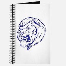 Lion Mascot (Blue) Journal