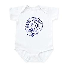 Lion Mascot (Blue) Infant Bodysuit