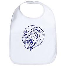 Lion Mascot (Blue) Bib