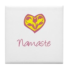 Namaste, Yoga Tile Coaster