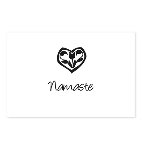 Namaste, Yoga Postcards (Package of 8)