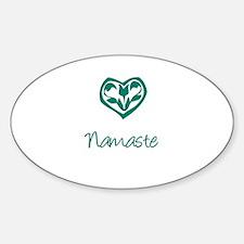 Namaste, Yoga Oval Decal