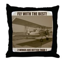 Fly With The Best! Throw Pillow