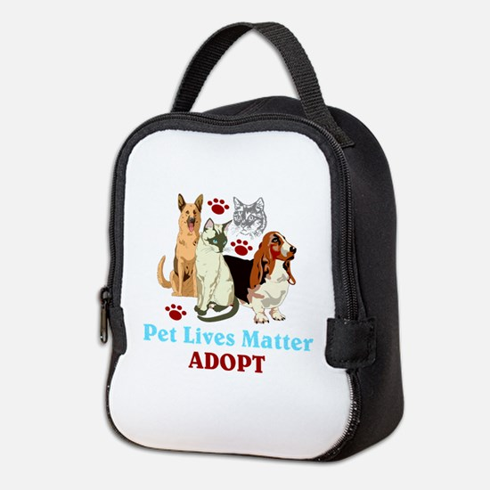 Pet Lives Matter Adopt Neoprene Lunch Bag