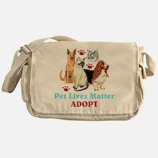 Pet Lives Matter Adopt Messenger Bag