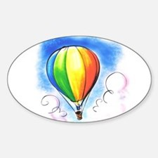 Hot Air Balloon Oval Decal