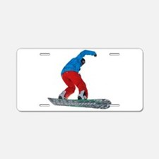 Snowboard jump Aluminum License Plate