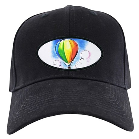 Hot Air Balloon Black Cap
