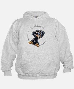 Funny Dog long haired dachshund patriotic Hoodie