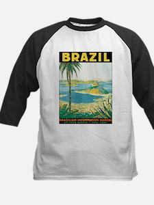 Brazil Retro Poster Baseball Jersey