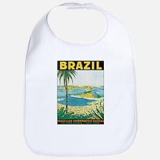 Brazil Retro Poster Bib