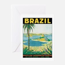 Brazil Retro Poster Greeting Cards