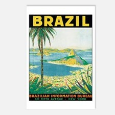 Brazil Retro Poster Postcards (Package of 8)