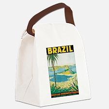 Brazil Retro Poster Canvas Lunch Bag