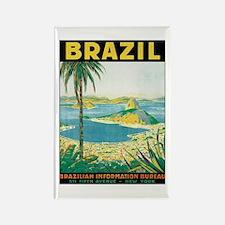 Brazil Retro Poster Magnets