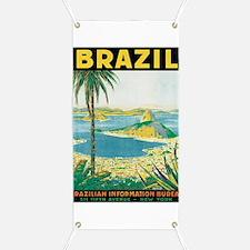 Brazil Retro Poster Banner