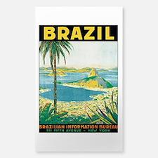 Brazil Retro Poster Decal