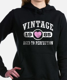 Vintage 1985 Women's Hooded Sweatshirt