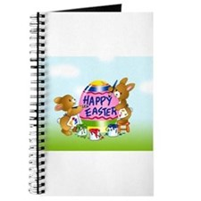 Bunnies Painting Easter Egg Journal