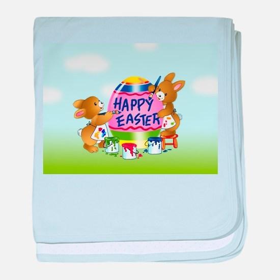Bunnies Painting Easter Egg baby blanket