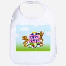 Bunnies Painting Easter Egg Bib
