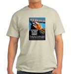 Itchy Inky Finger Ash Grey T-Shirt