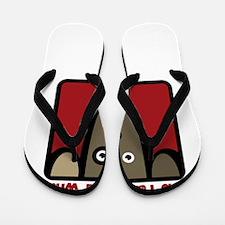 Unique I love life Flip Flops
