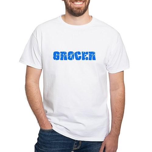 Grocer Blue Bold Design T-Shirt